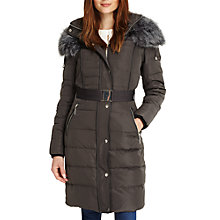 Buy Phase Eight Brisa Faux Fur Puffer Coat, Slate Online at johnlewis.com
