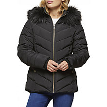 Buy Miss Selfridge Faux Fur Hood Puffer Jacket Online at johnlewis.com