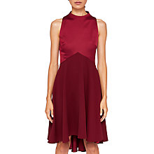 Buy Ted Baker Kandal Dropped Hem Dress, Maroon Online at johnlewis.com