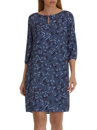 Betty & Co. Floral Print Dress, Lilac/Dark Blue