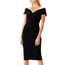 Buy Coast Jessa Bardot V Midi Shift Dress, Black Online at johnlewis.com
