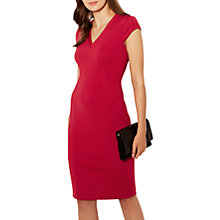 Buy Karen Millen V-Neck Pencil Dress, Dark Pink Online at johnlewis.com
