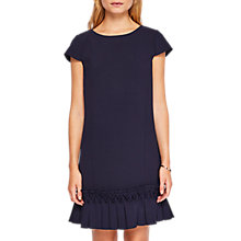 Buy Ted Baker Abana Dropped Waist Pleated Dress, Dark Blue Online at johnlewis.com