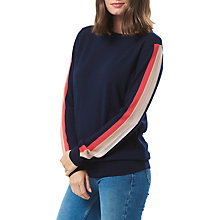 Buy Sugarhill Boutique Brooke Sport Stripe Merino Jumper, Navy/Multi Online at johnlewis.com