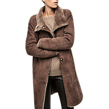 Buy Gerard Darel Guillaume Sheepskin Leather Coat, Camel Online at johnlewis.com