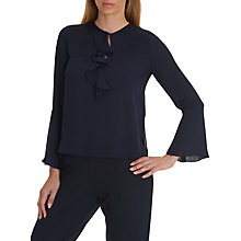 Buy Betty Barclay Ruffled Blouse, Dark Sapphire Online at johnlewis.com