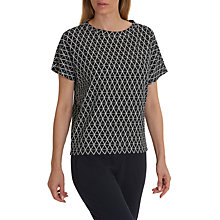 Buy Betty & Co. Diamond Texture Top, Dark Blue/Cream Online at johnlewis.com