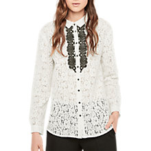 Buy Gerard Darel Beau Lace Shirt, Ecru Online at johnlewis.com