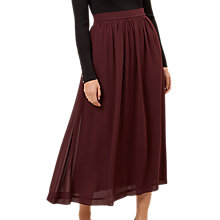 Buy Hobbs Layla Skirt, Merlot Online at johnlewis.com