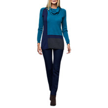 Buy East Cowl Colourblock Merino Jumper, Ink Online at johnlewis.com