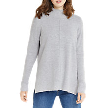 Buy Oasis Funnel Neck Knit Jumper, Mid Grey Online at johnlewis.com