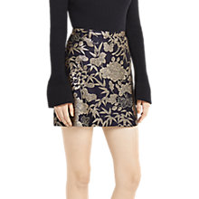 Buy Oasis Kimono Jacquard Mini Skirt, Multi/Blue Online at johnlewis.com