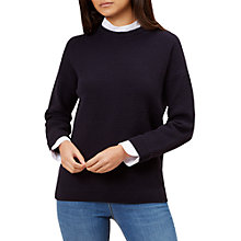 Buy Hobbs Connie Jumper, Navy Online at johnlewis.com