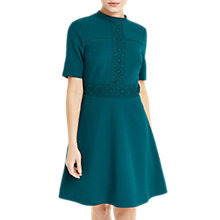 Buy Oasis Lace Detail Skater Dress, Rich Blue Online at johnlewis.com