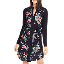 Buy Oasis Kimono Shirt Dress, Multi/Blue Online at johnlewis.com