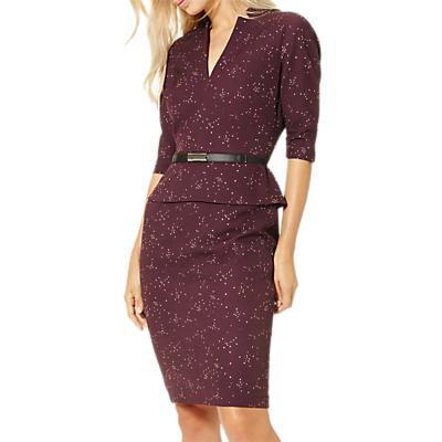 Damsel in a dress Abacus Print Dress, Port