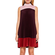 Buy Ted Baker Kimmea Pleated Dress With Bow, Grape Online at johnlewis.com