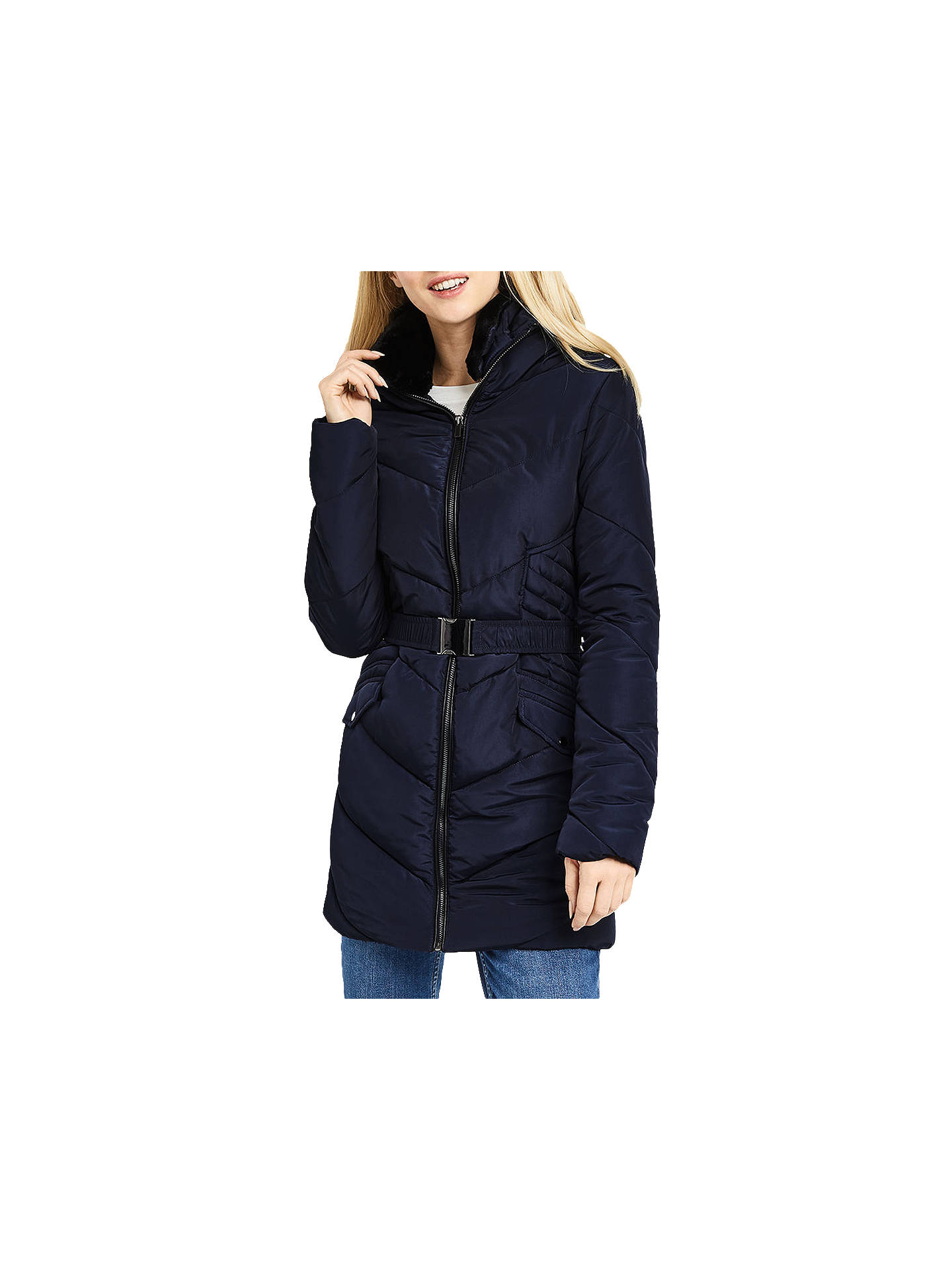 8127d7e905317 Oasis Cairnwell Long Padded Jacket at John Lewis   Partners