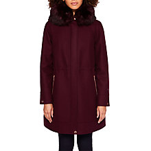 Buy Ted Baker Kalissa Wool Blend Hooded Parka Coat Online at johnlewis.com