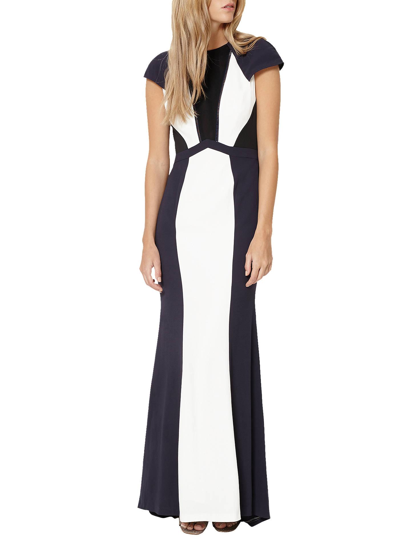 4ca965f6b1a Buy Damsel in a Dress Colourblock Maxi Dress, Navy/Ivory, 8 Online at ...