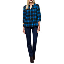 Buy East Wool Blend Pintuck Blouse, Dark Teal Online at johnlewis.com