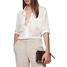 Buy Reiss Lilia Silk Pocket Detail Blouse Online at johnlewis.com