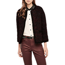 Buy Gerard Darel Ofelia Tweed Jacket, Red Online at johnlewis.com