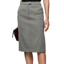 Buy Reiss Era Satin Pencil Skirt, Cinder Online at johnlewis.com