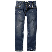 Buy Fat Face Boys' Rip Repair Slim Fit Jeans, Blue Online at johnlewis.com