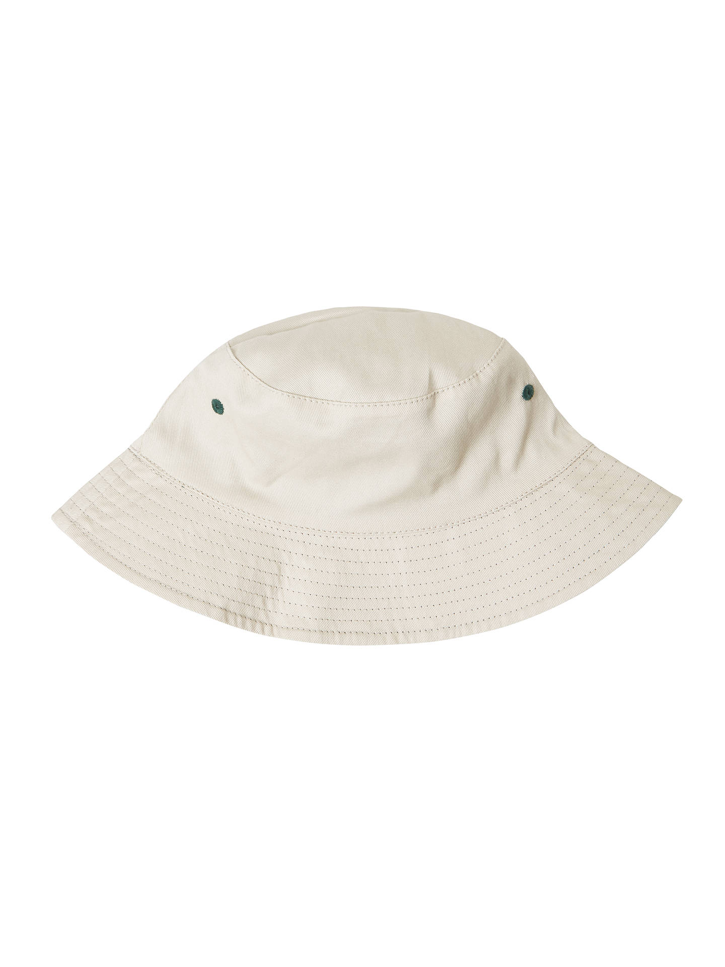 BuyJohn Lewis & Partners Children's Plain Reversible Bucket Hat, Khaki/Beige, S Online at johnlewis.com