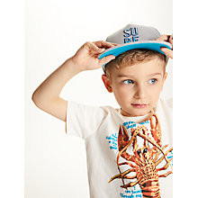 Buy John Lewis Children's Surf Embroidery Baseball Cap, Grey Online at johnlewis.com