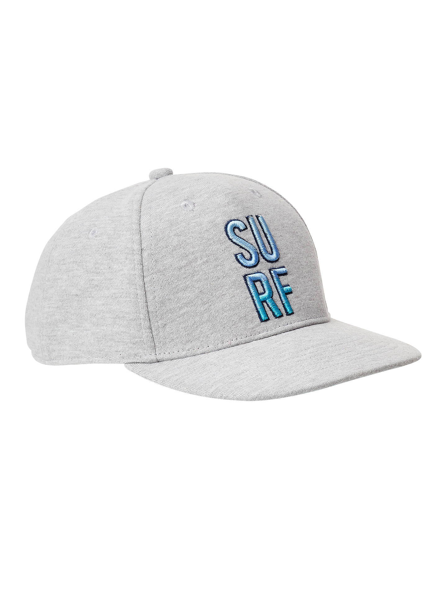 Buy John Lewis & Partners Children's Surf Embroidery Baseball Cap, Grey, S/M Online at johnlewis.com