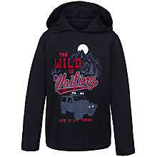 Buy Fat Face Boys' Wild Print Hoodie, Blue Online at johnlewis.com