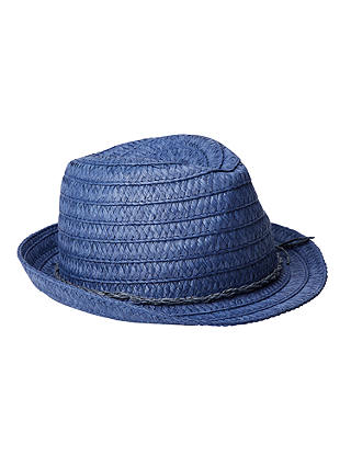 Buy John Lewis & Partners Children's String Detail Trilby, Navy, S/M Online at johnlewis.com