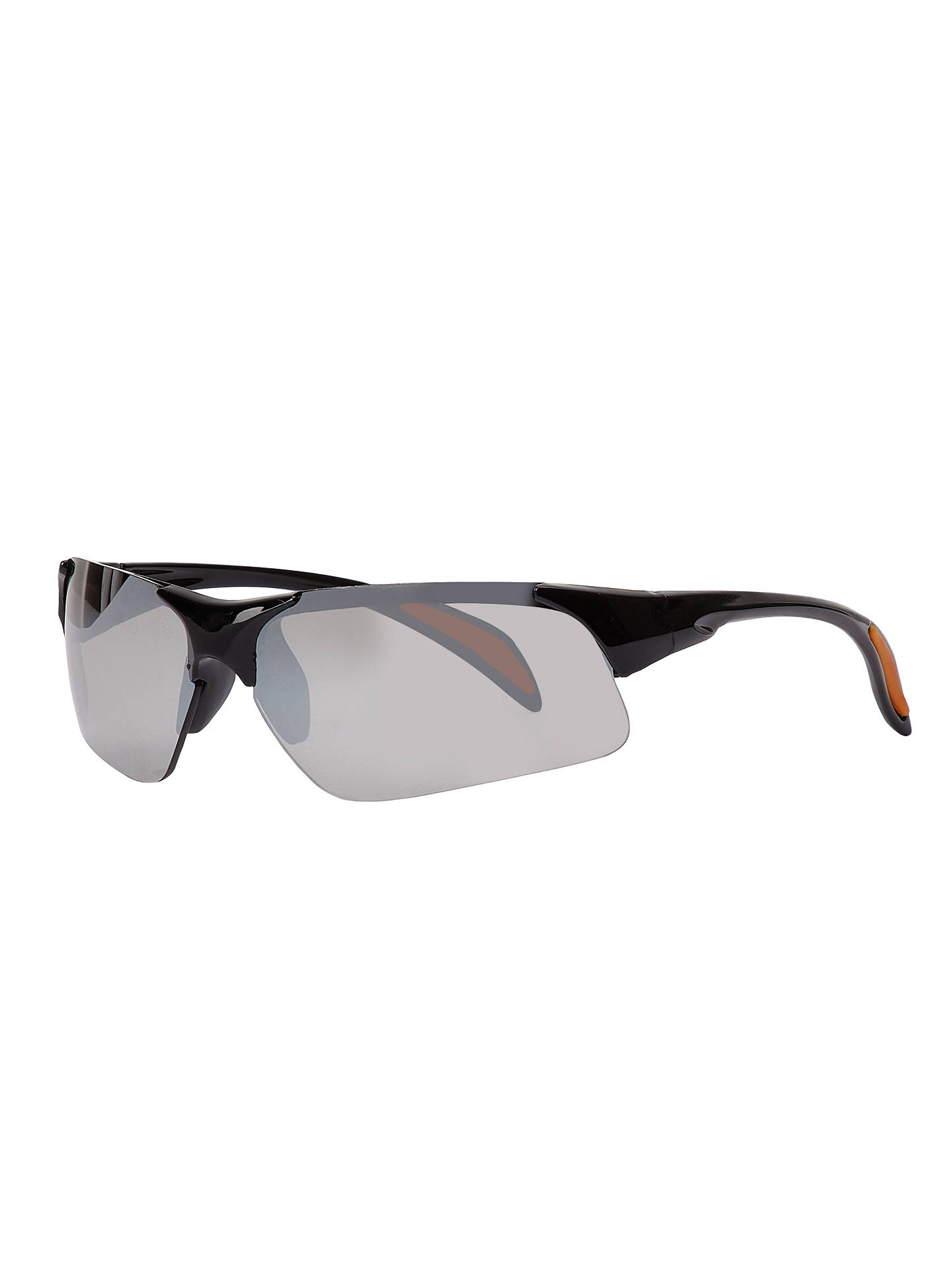 BuyJohn Lewis & Partners Children's Sports Wrap Mirror Sunglasses, Black Online at johnlewis.com