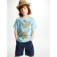 Buy John Lewis Children's Painted Trilby Hat, Natural Online at johnlewis.com