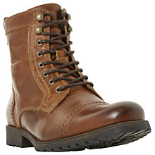 Buy Dune Cowell Toe Cap Lace-Up Boots, Tan Online at johnlewis.com