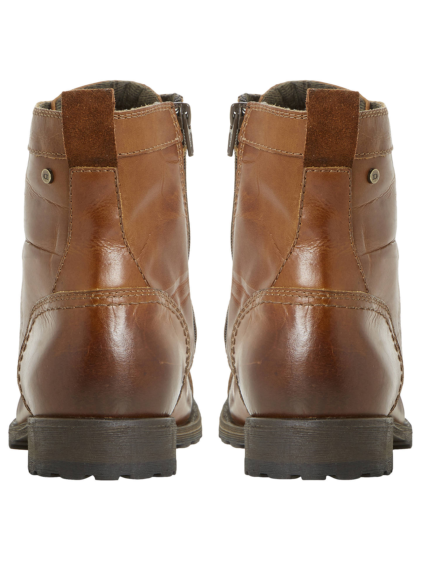 BuyDune Cowell Toe Cap Lace-Up Boots, Tan, 6 Online at johnlewis.com