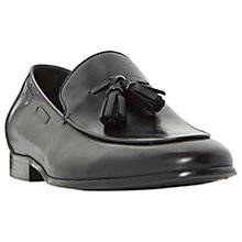 Buy Dune Preacher Double Tassel Loafer Shoes, Black Online at johnlewis.com