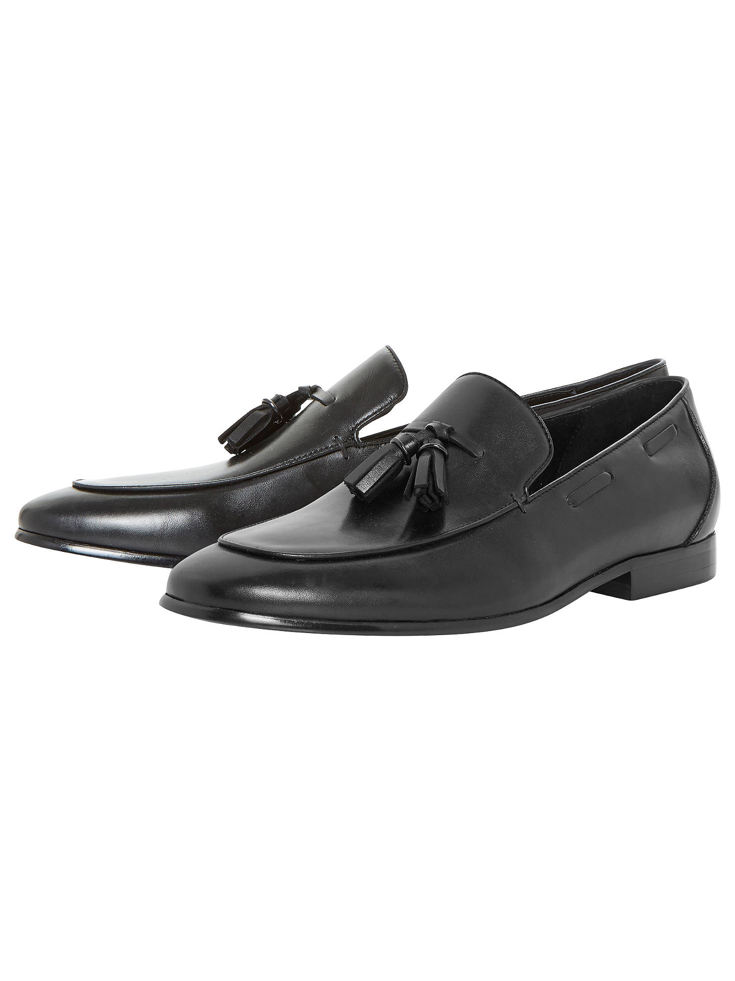 BuyDune Preacher Double Tassel Loafer Shoes, Black, 7 Online at johnlewis.com