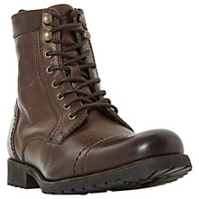 Buy Dune Cowell Toe Cap Lace-Up Boots, Brown Online at johnlewis.com
