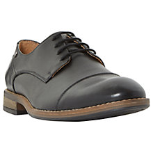Buy Dune Bauer Toe Cap Derby Shoes, Black Online at johnlewis.com