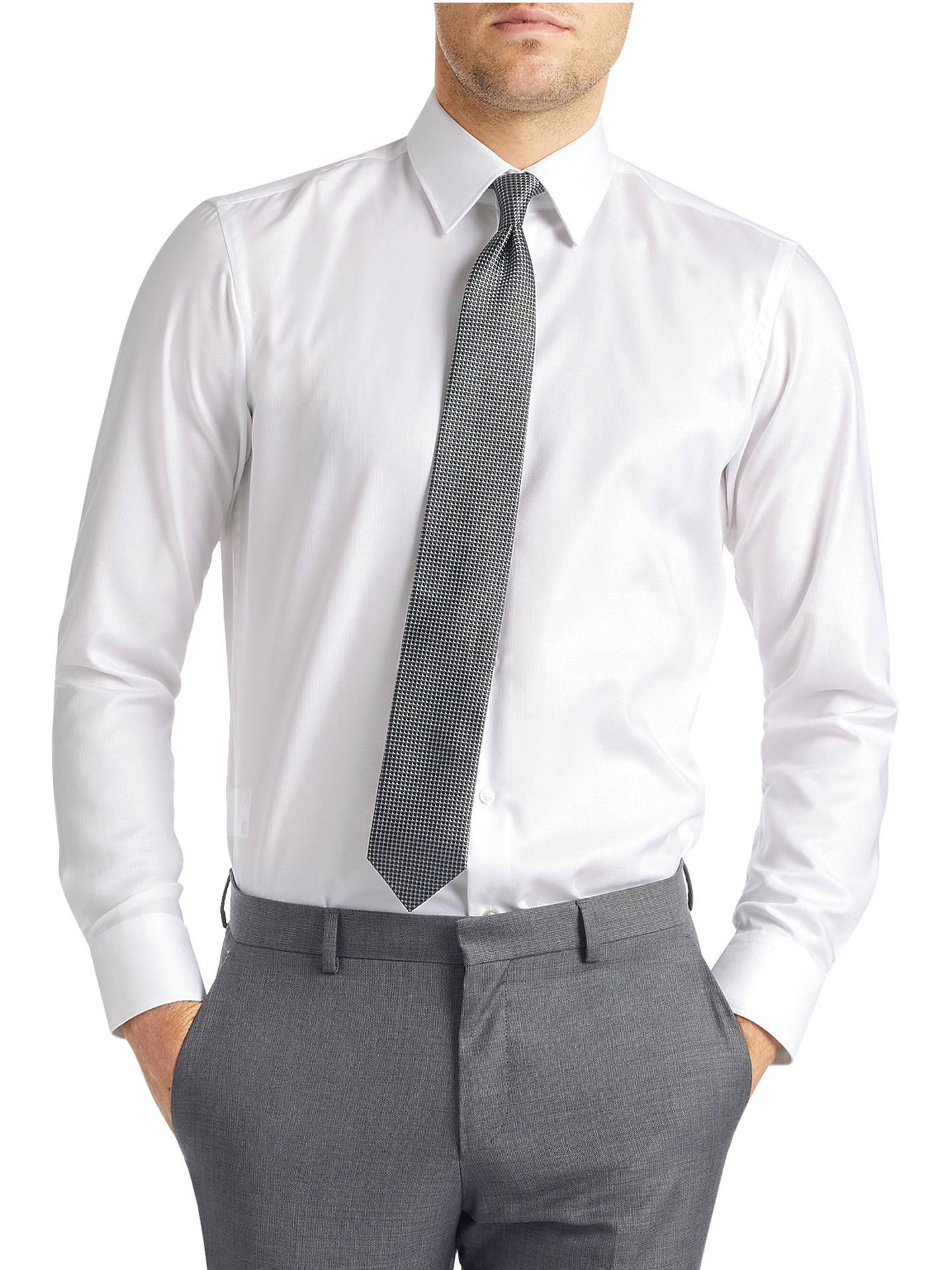1b39fb8e3 HUGO by Hugo Boss C-Enzo Shirt, Open White at John Lewis & Partners