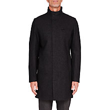 Buy Ted Baker T for Tall Long Marvin Coat, Charcoal Online at johnlewis.com