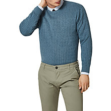 Buy Selected Homme Clayton Cable Knit Jumper Online at johnlewis.com