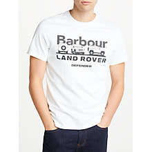 Buy Barbour Land Rover Defender Lingmell Graphic T-Shirt, White Online at johnlewis.com