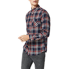 Buy Selected Homme Shonedennis Check Shirt, Syrah Check Online at johnlewis.com