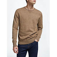 Buy Selected Homme Joey Crew Neck T-Shirt, Kangaroo Online at johnlewis.com