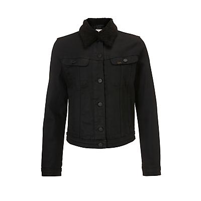 Lee Sherpa Rider Jacket, Black Gloss