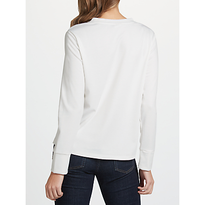 Selected Femme Elma Frill Top, Snow White